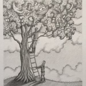 Reach Out For Love – Pencil Drawing
