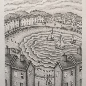 Riding The Waves - Drawing - 21 x 18cm - £1450